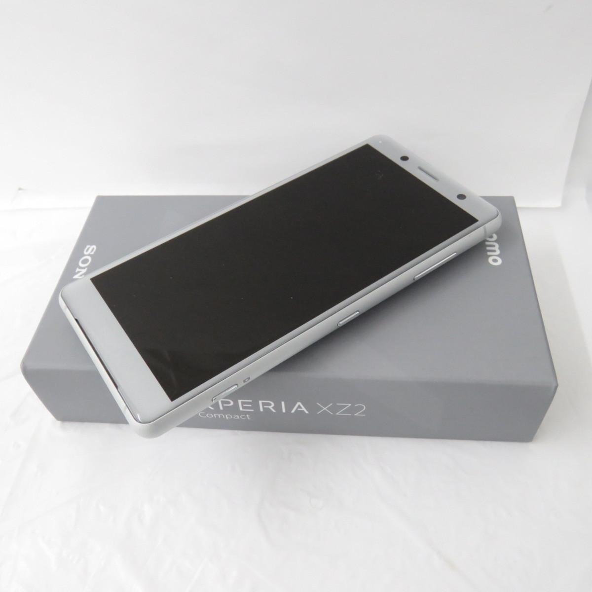 1円~【美品】docomo ドコモ スマートフォン SONY Xperia XZ2 Compact SO-05K ホワイトシルバー 判定○ ※SIMロック解除済み 10675292