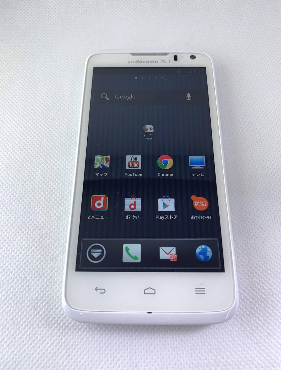 ◎【送料無料】美品 docomo HUAWEI Asend HW-01E ホワイト 本体【ファーウェイ・android・中古・Wi-Fi・携帯・スマホ・ジャンク】_画像1