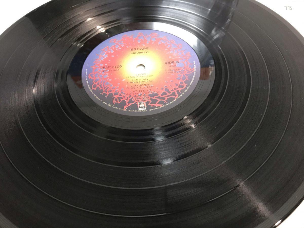 Journey Escape ジャーニー エスケイプ LPレコード 国内盤 ポップス ロック アナログ盤 帯付 未チェック 現状中古 T0111213_画像3