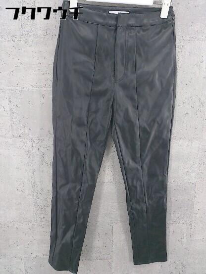 ◇ SLY スライ ストレッチ フェイクレザー パンツ サイズ1 ブラック レディース_画像1