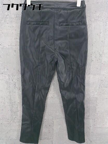 ◇ SLY スライ ストレッチ フェイクレザー パンツ サイズ1 ブラック レディース_画像2