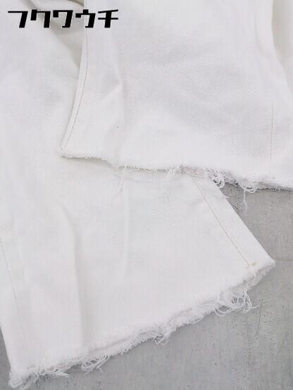 ◇ SLY スライ カットオフ デニム ジーンズ パンツ サイズ2 ホワイト レディース_画像7