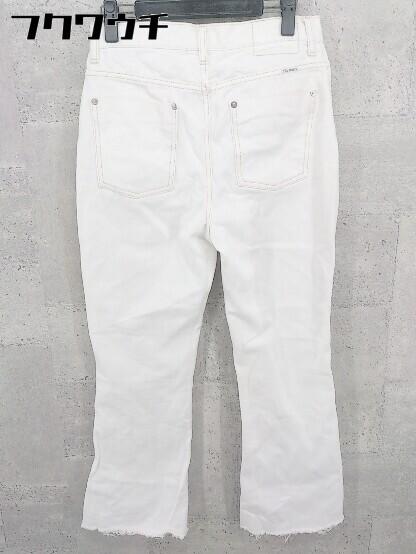 ◇ SLY スライ カットオフ デニム ジーンズ パンツ サイズ2 ホワイト レディース_画像2