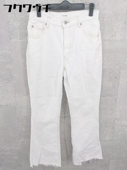 ◇ SLY スライ カットオフ デニム ジーンズ パンツ サイズ2 ホワイト レディース_画像1