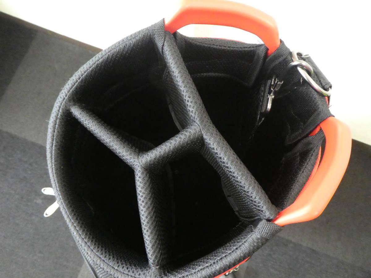 ダンロップ スリクソン GGC-S166 キャディバッグ 9.5型 3.0kg ブラック×レッド 新品 未使用品 1円スタート_画像5