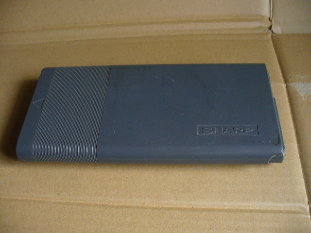 SHARP pocket computer PC-G801 operation verification settled owner manual attaching .