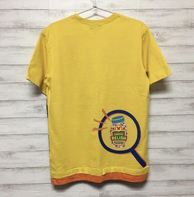 一度着用のみ☆東京ディズニーランドで購入☆ミッキーマウス☆半袖Tシャツ☆Sサイズ☆黄色☆TDL TDR TDS☆東京ディズニーシー_画像3
