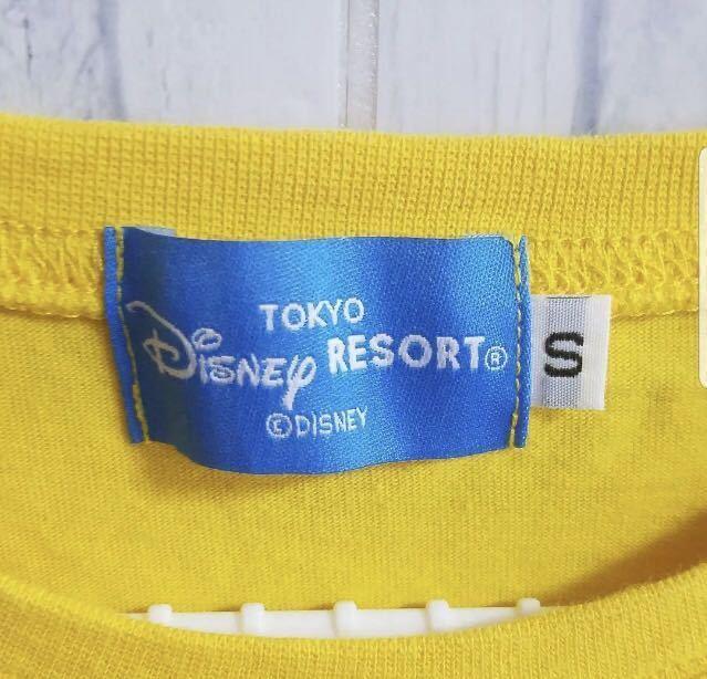 一度着用のみ☆東京ディズニーランドで購入☆ミッキーマウス☆半袖Tシャツ☆Sサイズ☆黄色☆TDL TDR TDS☆東京ディズニーシー_画像4