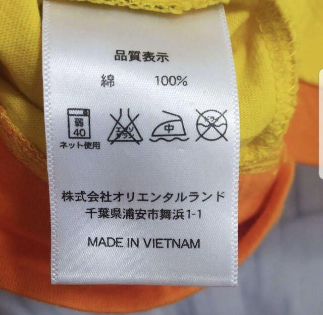 一度着用のみ☆東京ディズニーランドで購入☆ミッキーマウス☆半袖Tシャツ☆Sサイズ☆黄色☆TDL TDR TDS☆東京ディズニーシー_画像5