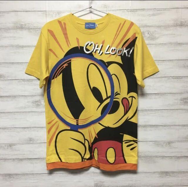 一度着用のみ☆東京ディズニーランドで購入☆ミッキーマウス☆半袖Tシャツ☆Sサイズ☆黄色☆TDL TDR TDS☆東京ディズニーシー_画像1
