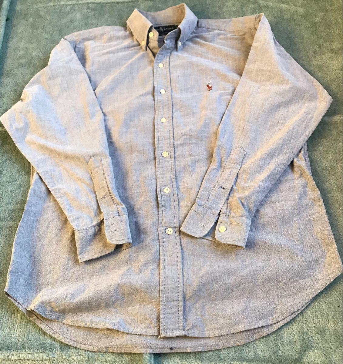 【美品】ラルフローレン デニムシャツ メンズ 長袖 シャツ ボタンダウンシャツ