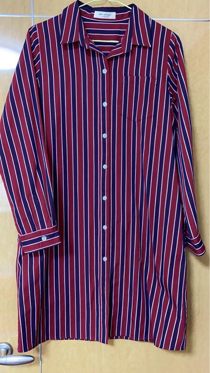 レディース  チェックシャツ ブラウス ストライプシャツ