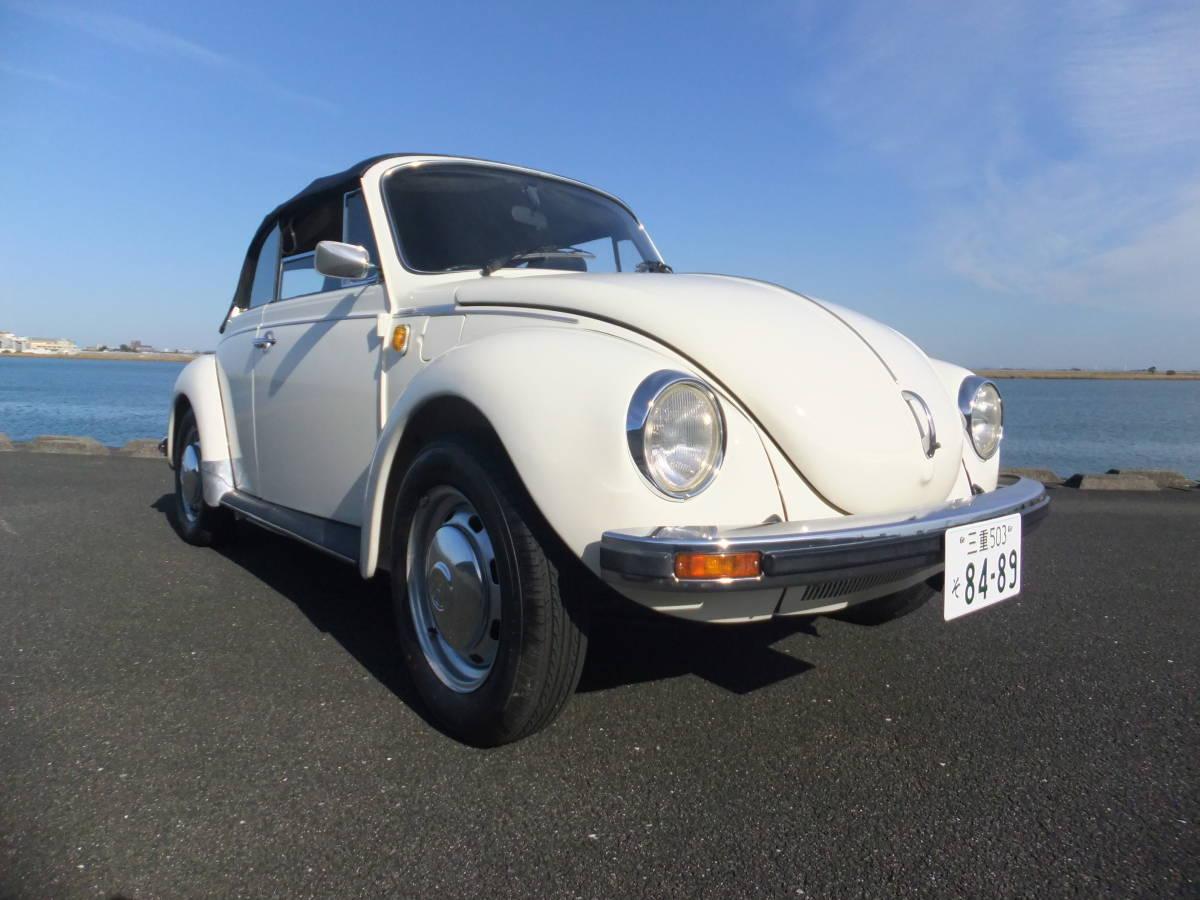 「【低走行、レストア済】VWビートル 1303S カブリオレ ディーラ車 」の画像2