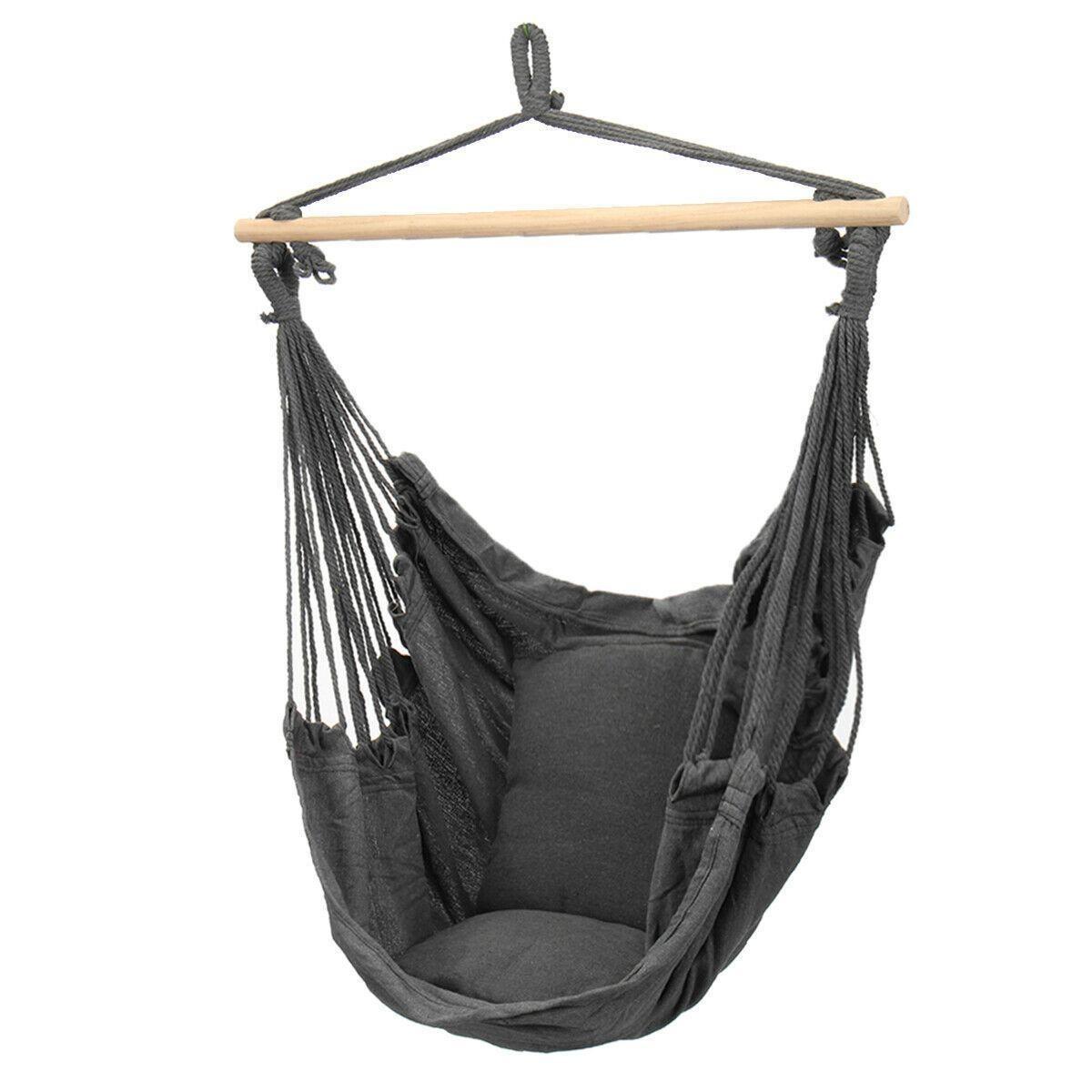 北欧スタイルハンモック屋外屋内ガーデン寮の寝室の吊椅子子供のための大人のスイングシングル安全椅子H402_画像3