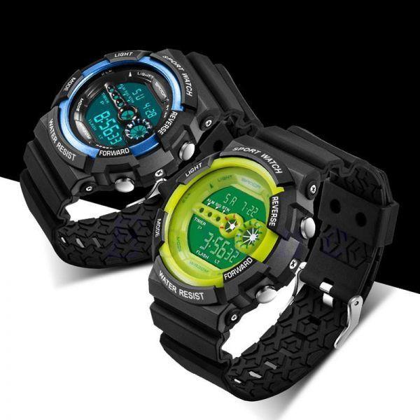 メンズ ステンレス LED デジタル 日付 アラーム 防水 スポーツ アーミー クォーツ 時計 電子 時計 ファッション 腕時計 アウトドア H529_画像4