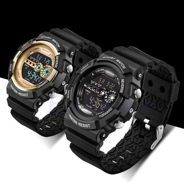 メンズ ステンレス LED デジタル 日付 アラーム 防水 スポーツ アーミー クォーツ 時計 電子 時計 ファッション 腕時計 アウトドア H529_画像5