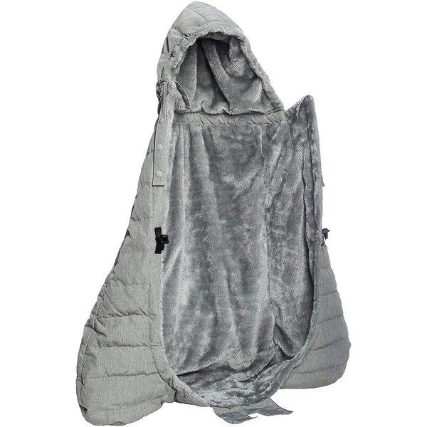 ベビーホッパー(BABYHOPPER) ダウン90% 抱っこひも 防寒 カバー エルゴ ウインターマルチプルダウンカバー/グレー ベビーカー