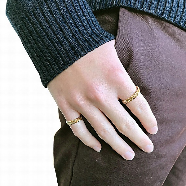 K18 アクセサリー リング 指輪 18金 ゴールド 9号 誕生日プレゼント クリスマスプレゼント クリスマス 贈り物 ギフト BOX付_画像4