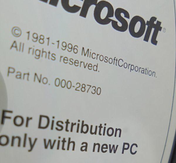 Windows95 & Plus! Part No.000-28730 インストールディスクのみ(CD-ROM)(g)_画像2