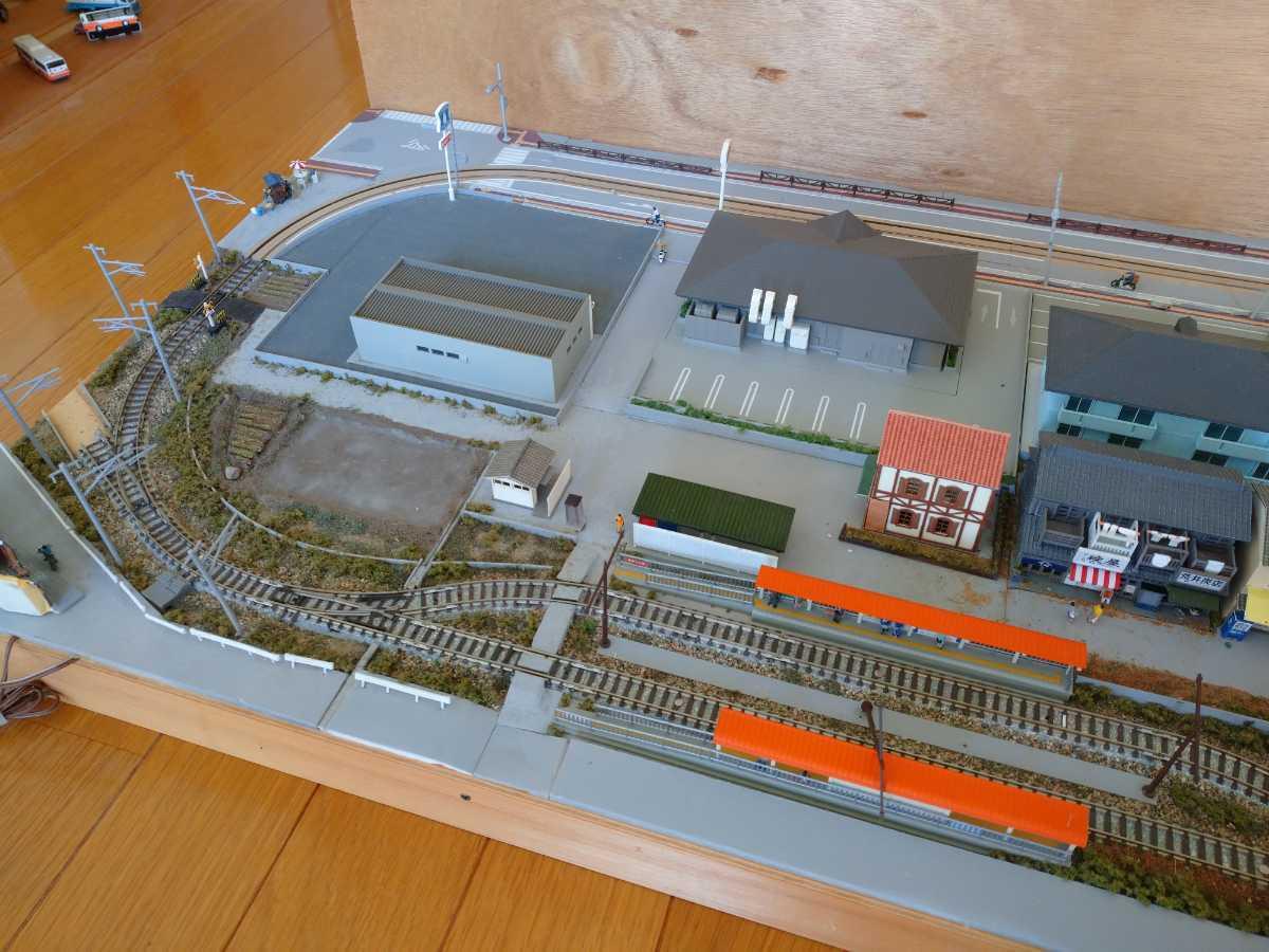 即決!Nゲージジオラマ町と路面電車の風景電車車両は付きません_画像3