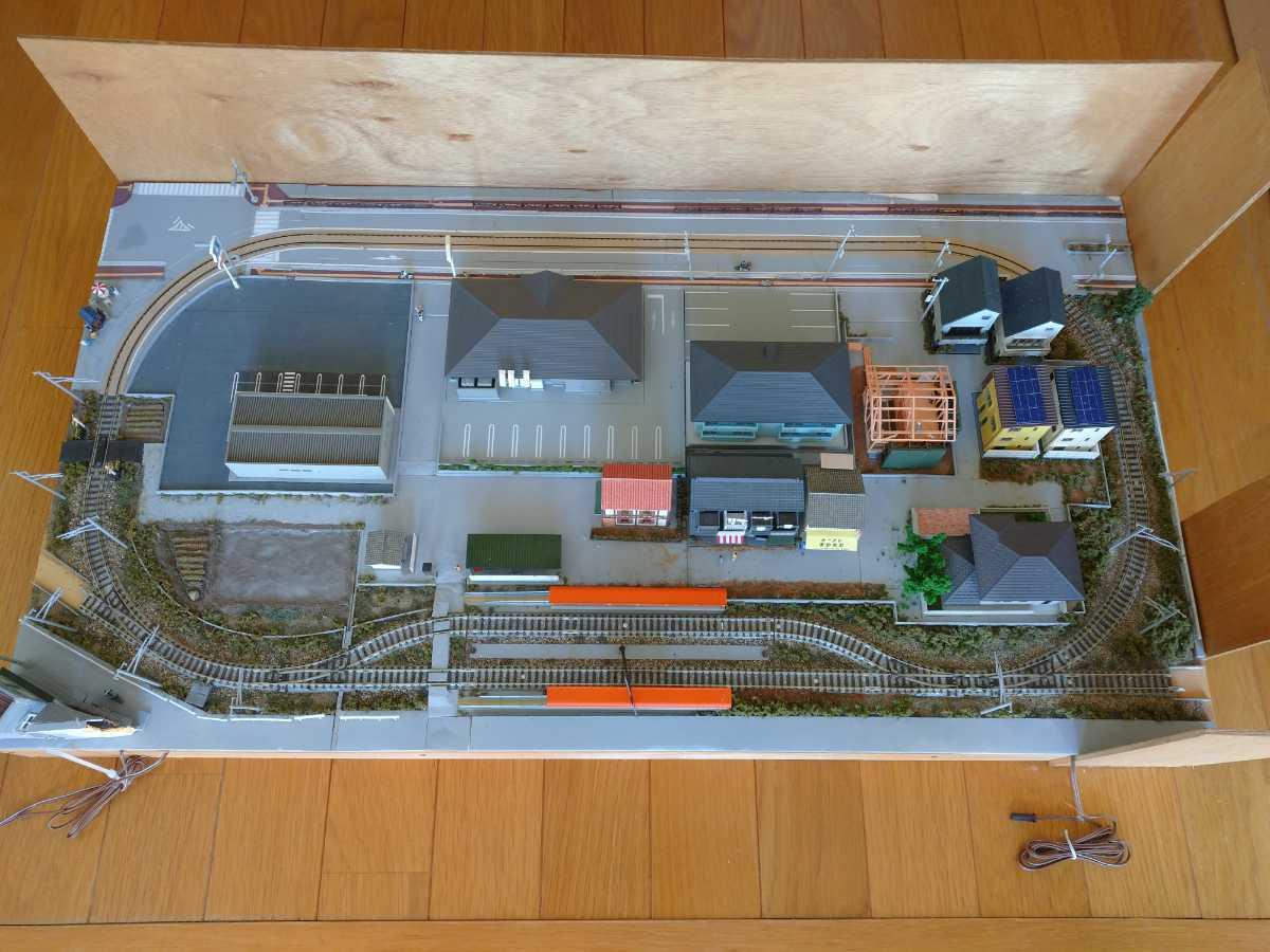 即決!Nゲージジオラマ町と路面電車の風景電車車両は付きません_画像1