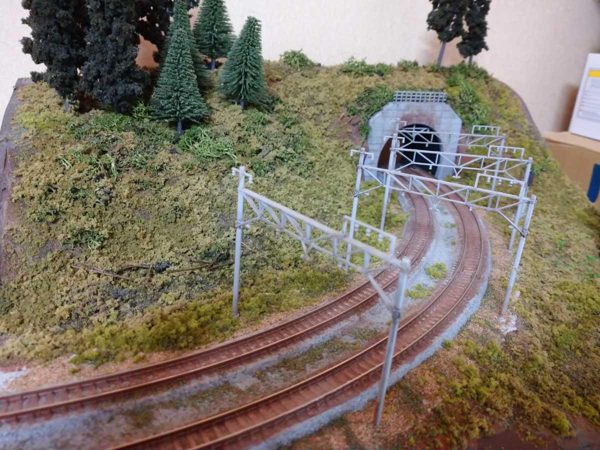 即決!Nゲージジオラマ山とトンネルの風景電車車両は付きません