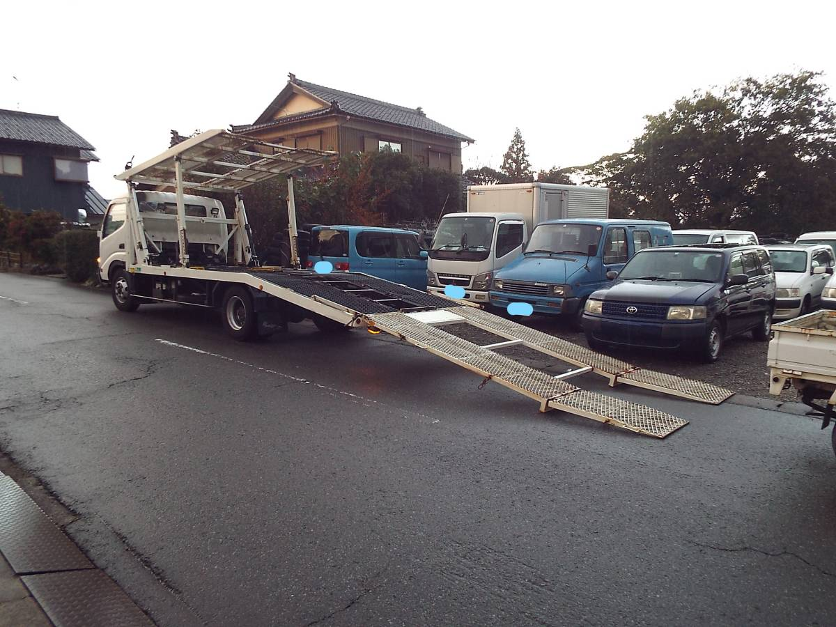 「平成20年2月 デュトロ 花見台 ビックワイド 2台積み 車載車 車検 令和3年2月21日 」の画像3