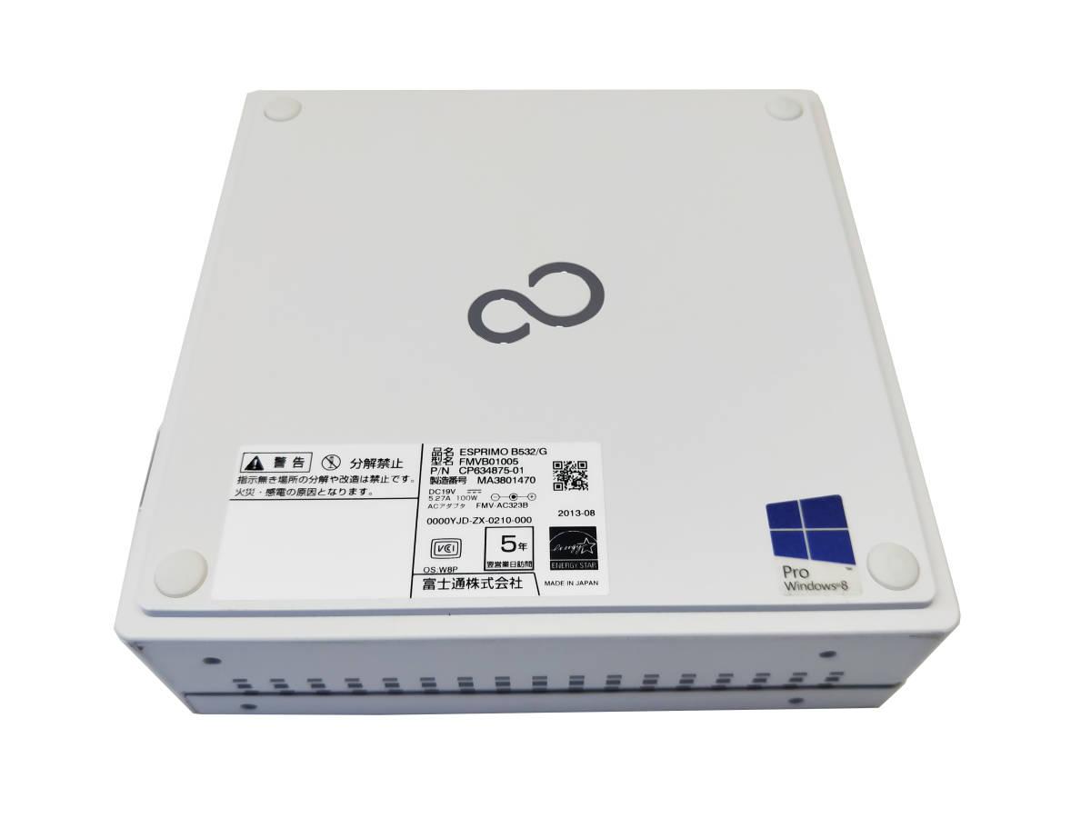 ■驚速 超省スペースタイプ Fujitsu Core i7-3770T 2.5-3.7GHz x8/16GB■新品SSD:960GB Win10/Office2019 Pro/無線 WiFi.■B532/G -5_画像6
