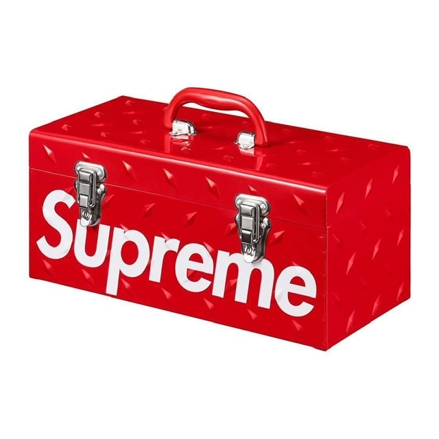 Supreme Diamond Plate Tool Box Red 新品 ダイアモンド プレート ツールボックス TOOLBOX 工具箱 赤_画像1