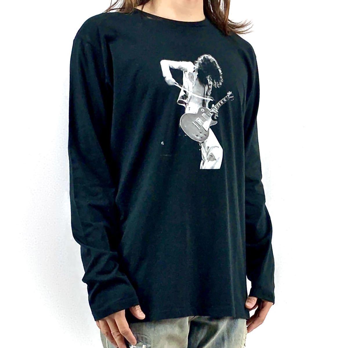 新品 ジミーペイジ レッドツェッペリン ギタリスト ロック バンド 黒 ロンT 長袖 Tシャツ XS S M L XL ビッグ オーバー サイズ XXL~4XL 可_画像3
