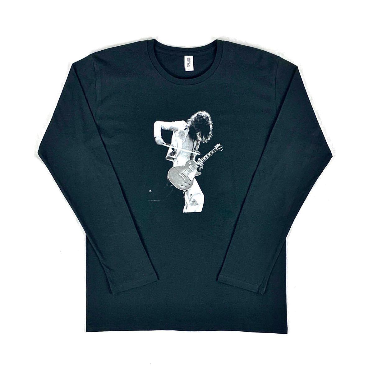 新品 ジミーペイジ レッドツェッペリン ギタリスト ロック バンド 黒 ロンT 長袖 Tシャツ XS S M L XL ビッグ オーバー サイズ XXL~4XL 可_画像6