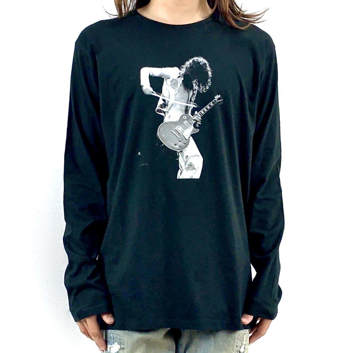 新品 ジミーペイジ レッドツェッペリン ギタリスト ロック バンド 黒 ロンT 長袖 Tシャツ XS S M L XL ビッグ オーバー サイズ XXL~4XL 可_画像2
