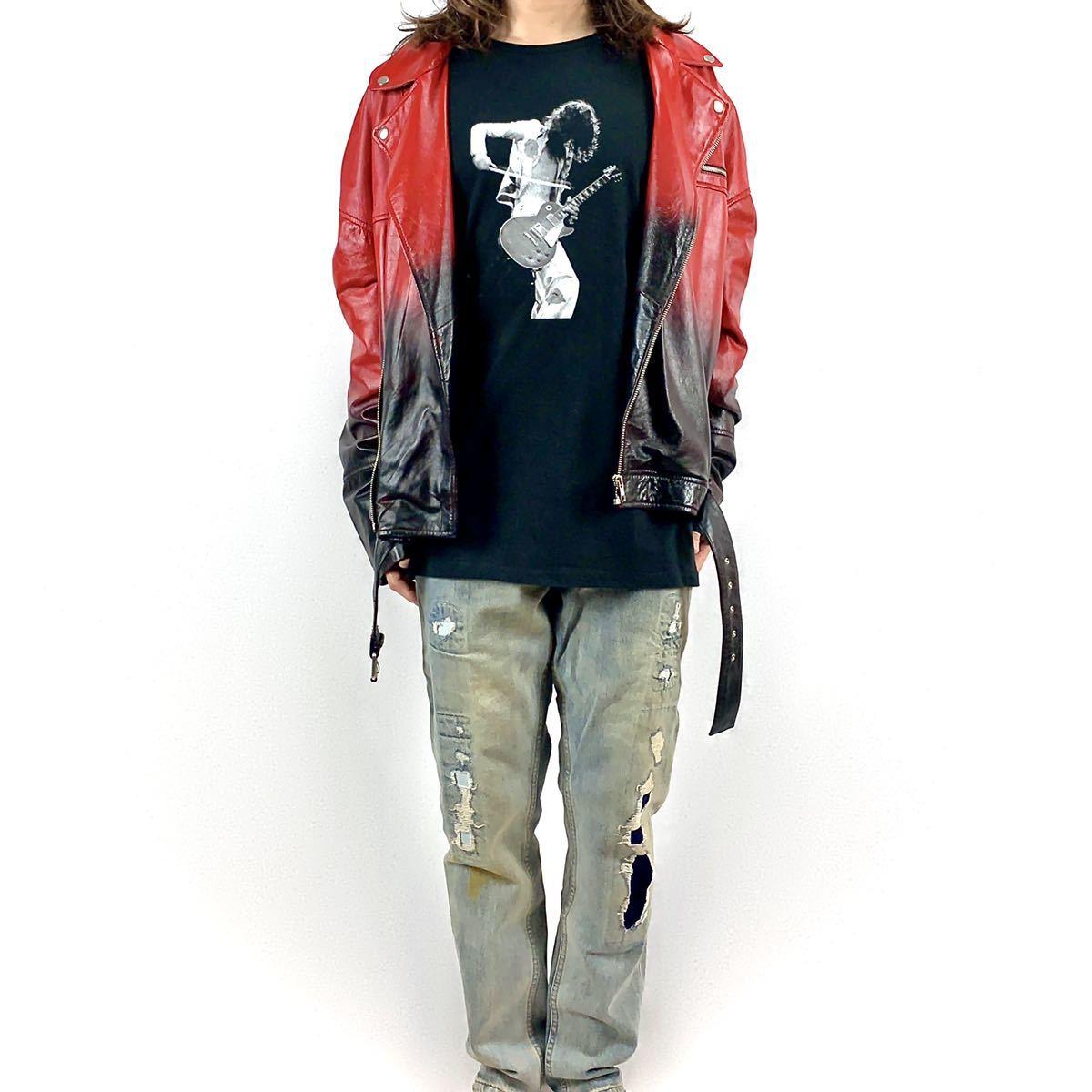 新品 ジミーペイジ レッドツェッペリン ギタリスト ロック バンド 黒 ロンT 長袖 Tシャツ XS S M L XL ビッグ オーバー サイズ XXL~4XL 可_画像5