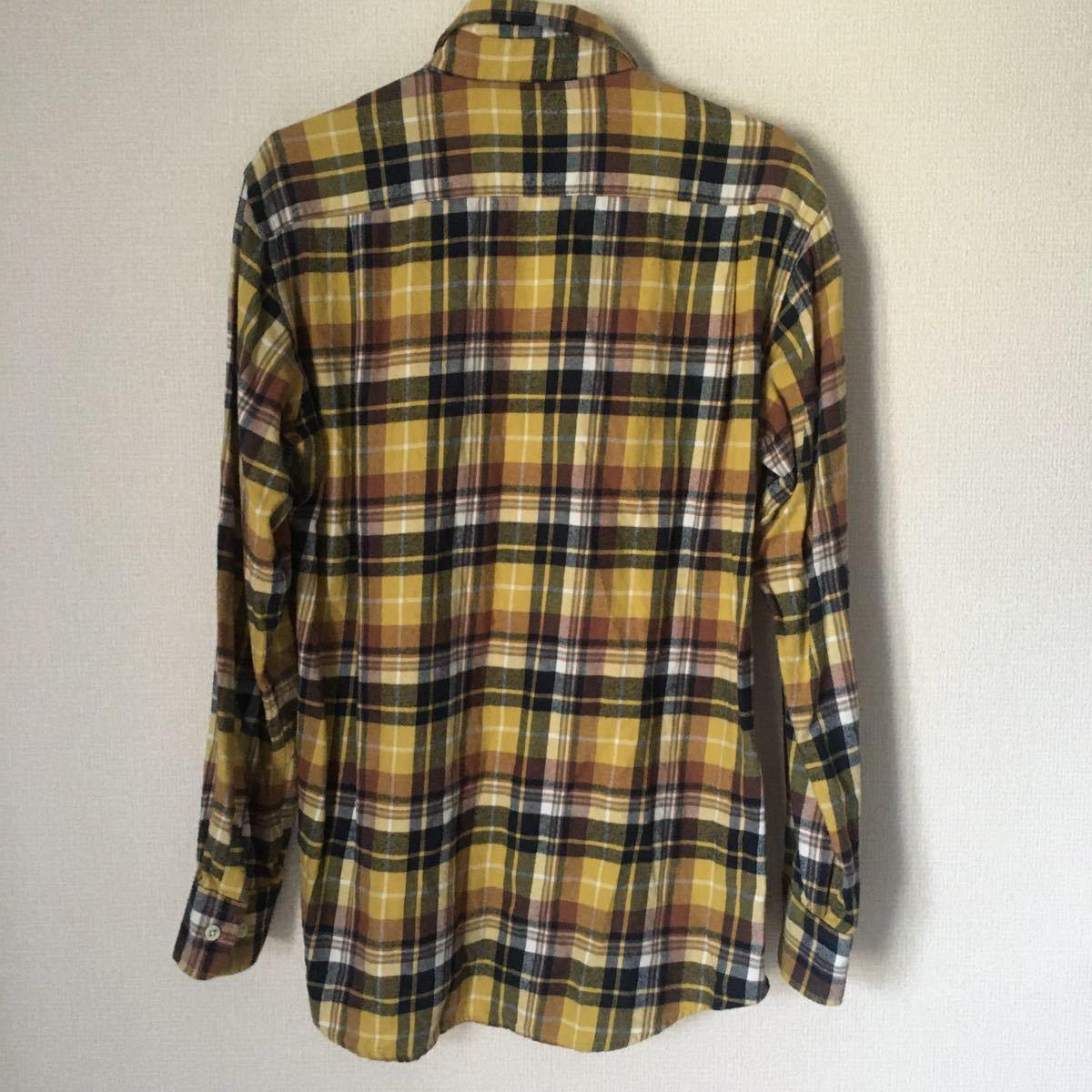 ネルシャツ チェックシャツ 長袖シャツ ユニクロ UNIQLO M