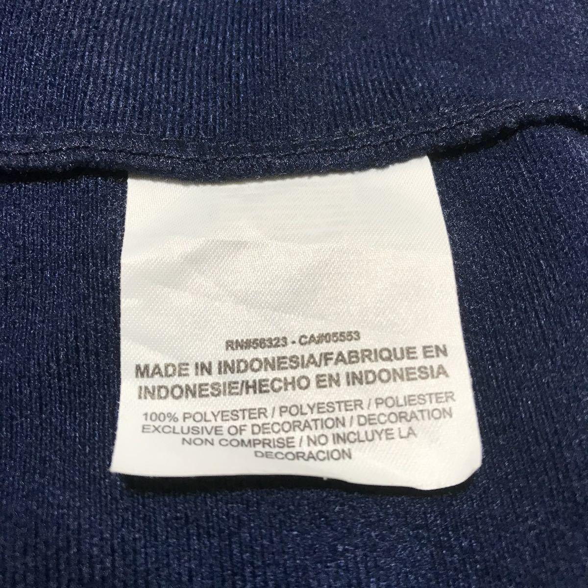 NIKE ナイキ ジャージ トラックジャケット L ネイビー 刺繍ロゴ ビッグサイズ オーバーサイズ