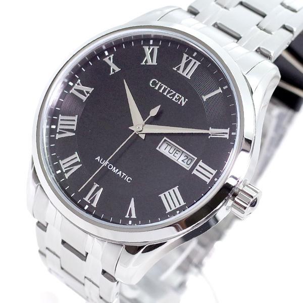 シチズン CITIZEN 腕時計 メンズ NH8360-80E 自動巻き ブラック シルバー_画像1