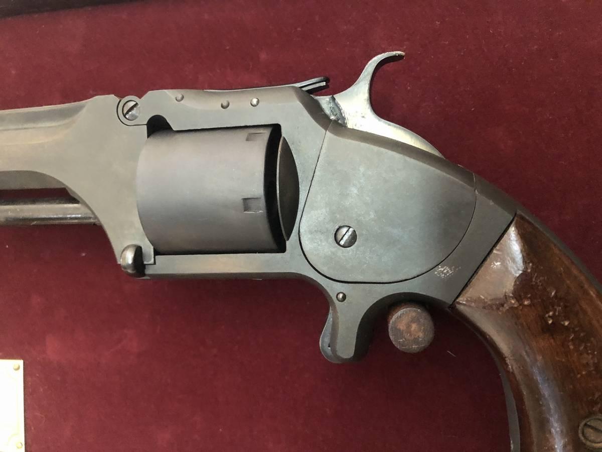 坂本龍馬の銃 S&W Model2 Marushin マルシン HWモデルガン 木製グリップ付_画像10