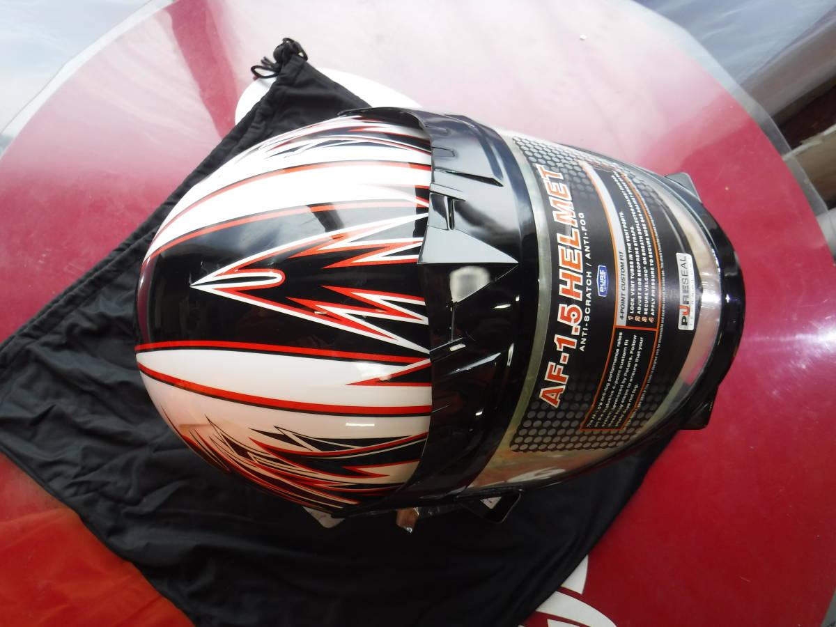 即納 ポラリス 純正 スノーモービル用 ヘルメット XL:61-62cm AF1.5 ブラックxホワイトxデュアルシールド ゴーグルいらず polaris_画像3