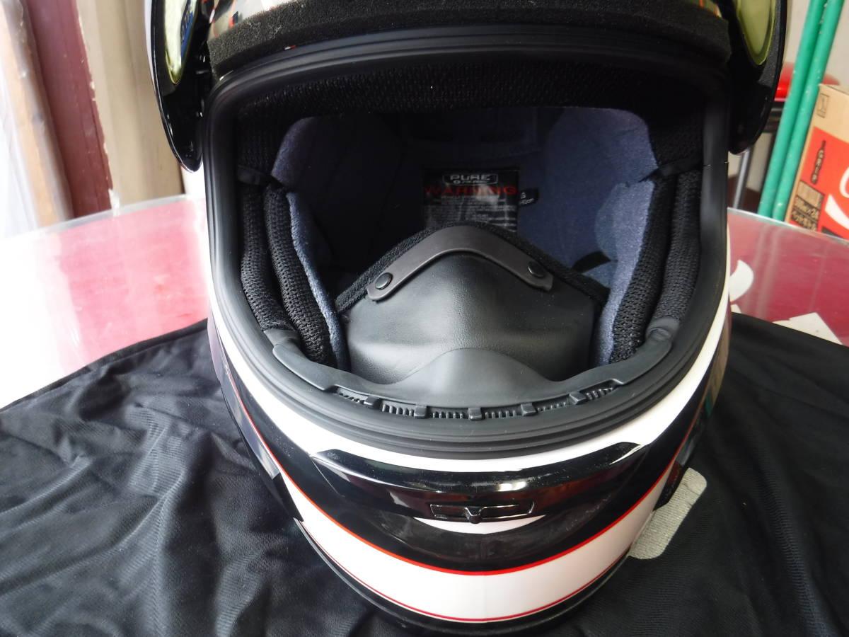 即納 ポラリス 純正 スノーモービル用 ヘルメット XL:61-62cm AF1.5 ブラックxホワイトxデュアルシールド ゴーグルいらず polaris_画像5