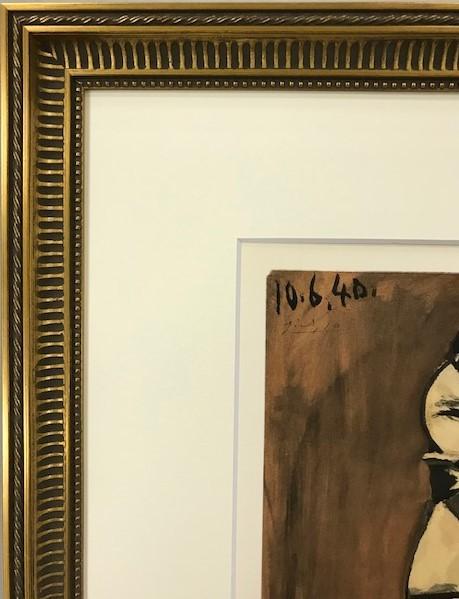 【特価】 ≪  パブロ・ピカソ  ≫  ポショワール【手彩色版画】  10.6.40   1959年  PABLO PICASSO  KATIA GRANOFF