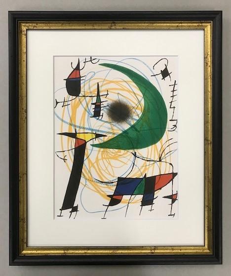 【特価】 ≪    ミロ    ≫  オリジナルリトグラフ【石版画】    Ⅴ    1972年    JOAN MIRO_画像1