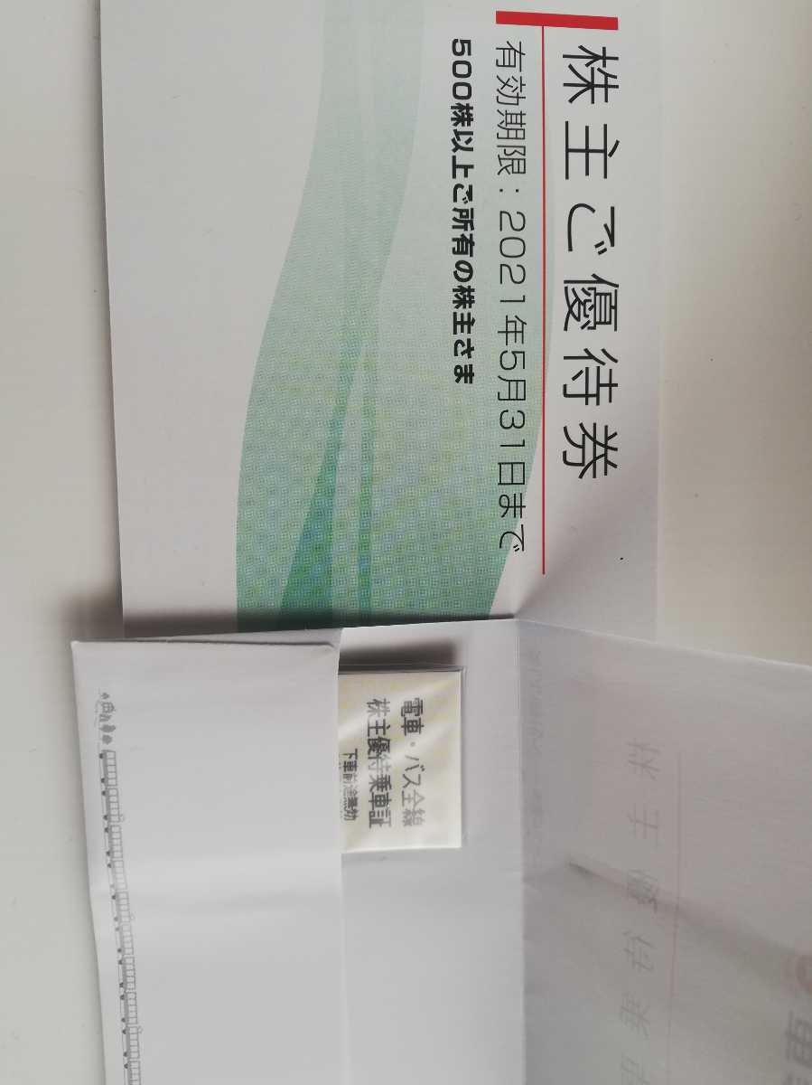 東急電鉄株主優待乗車証 電車.バス全線 5枚株主ご優待券 1冊_画像1