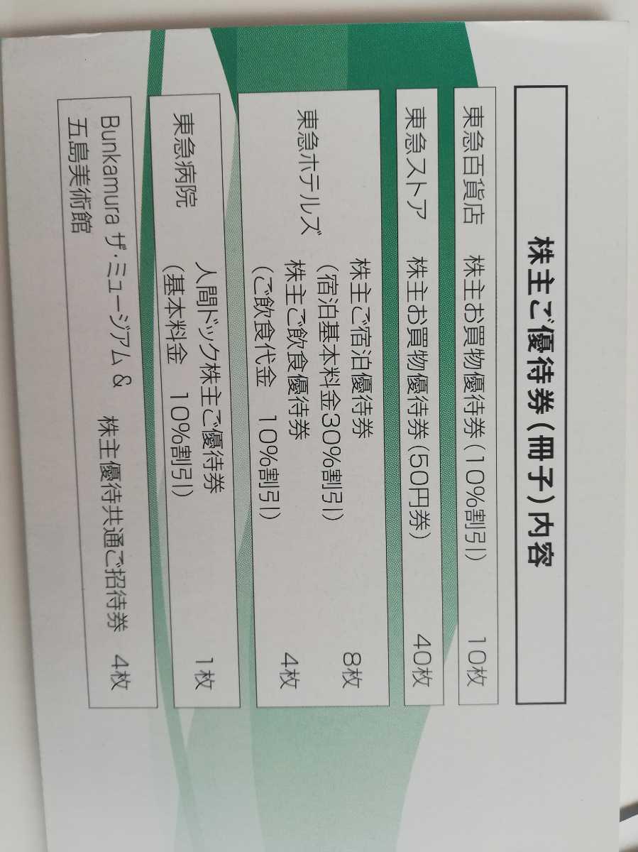 東急電鉄株主優待乗車証 電車.バス全線 5枚株主ご優待券 1冊_画像3
