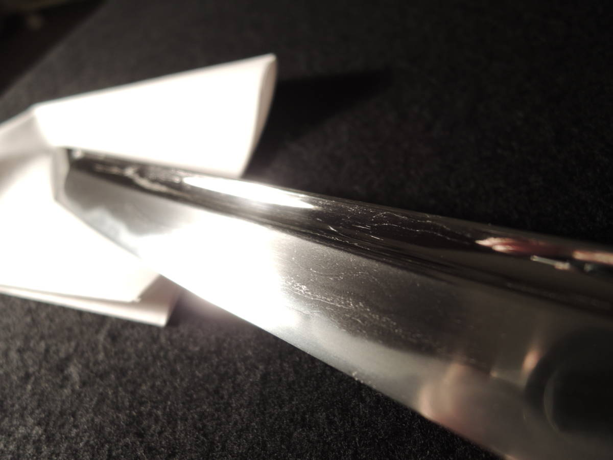 ■ 大磨り上げ無銘 特別貴重刀剣「秀光」極め 半太刀拵入り 60.2cm ■_画像9