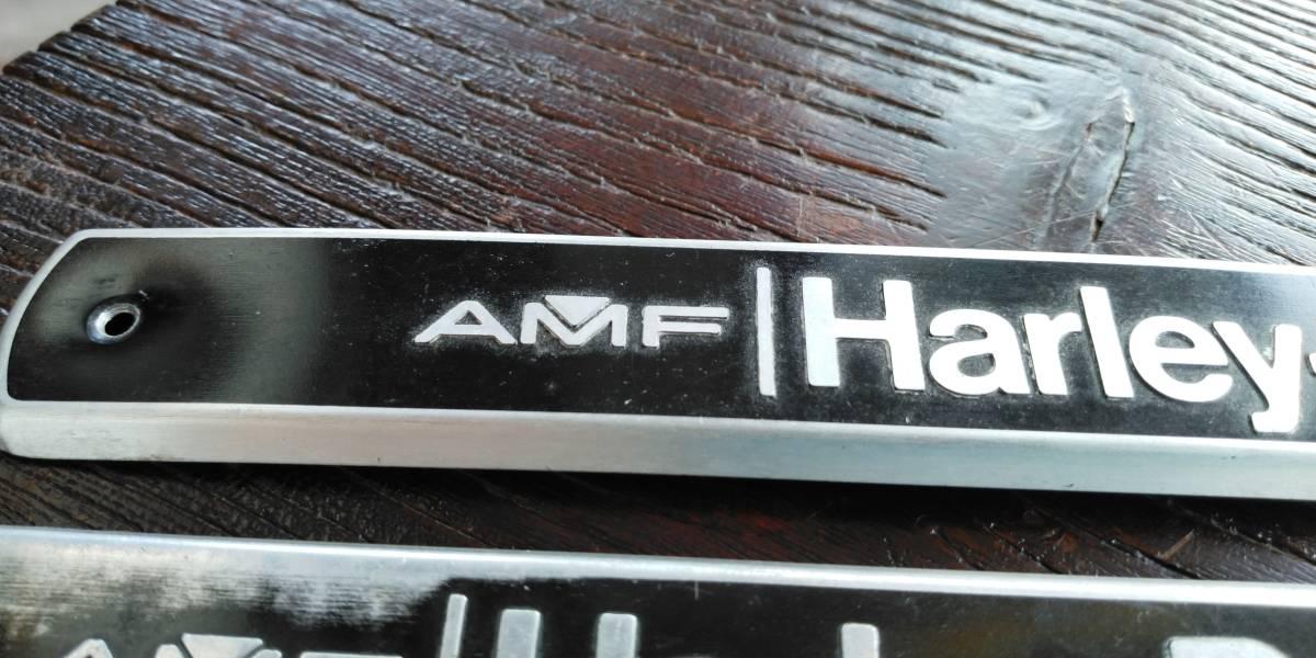 値下げ交渉あり ハーレー ショベルヘッド  FX  FLH ブラック AMF 70s 80s 当時物 純正 タンクエンブレム 左右セット_画像3
