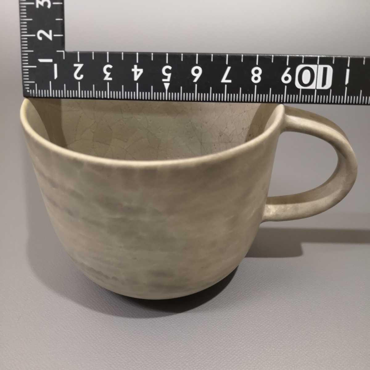 叶46)萩焼 コーヒーカップ マグカップ 珈琲器 未使用新品 同梱歓迎_画像7