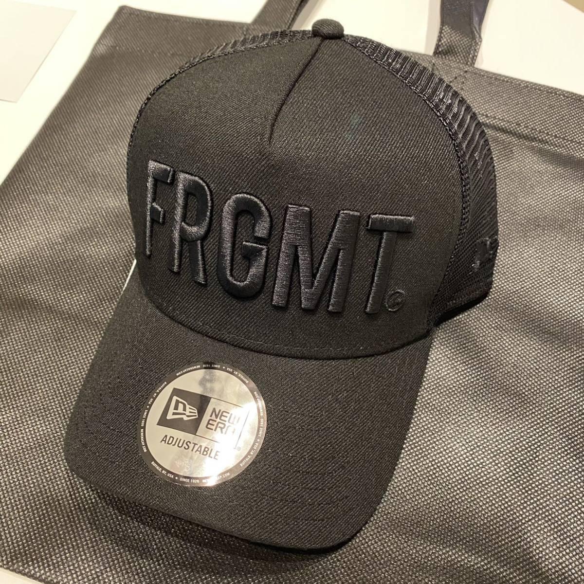 新品 NEW ERA 9FORTY A-Frame トラッカー キャップ FRAGMENT DESIGN フラグメントデザイン FRGMT ブラック 藤原ヒロシ 12571843 メッシュ_画像1