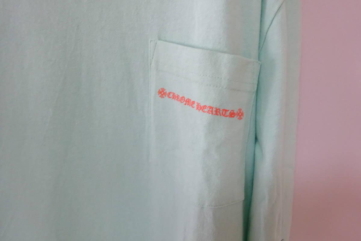 ⑥ クロムハーツ マッティボーイ 長袖 Tシャツ L 175/104B ライトグリーン MATTY BOY レア ロンT レア_画像3