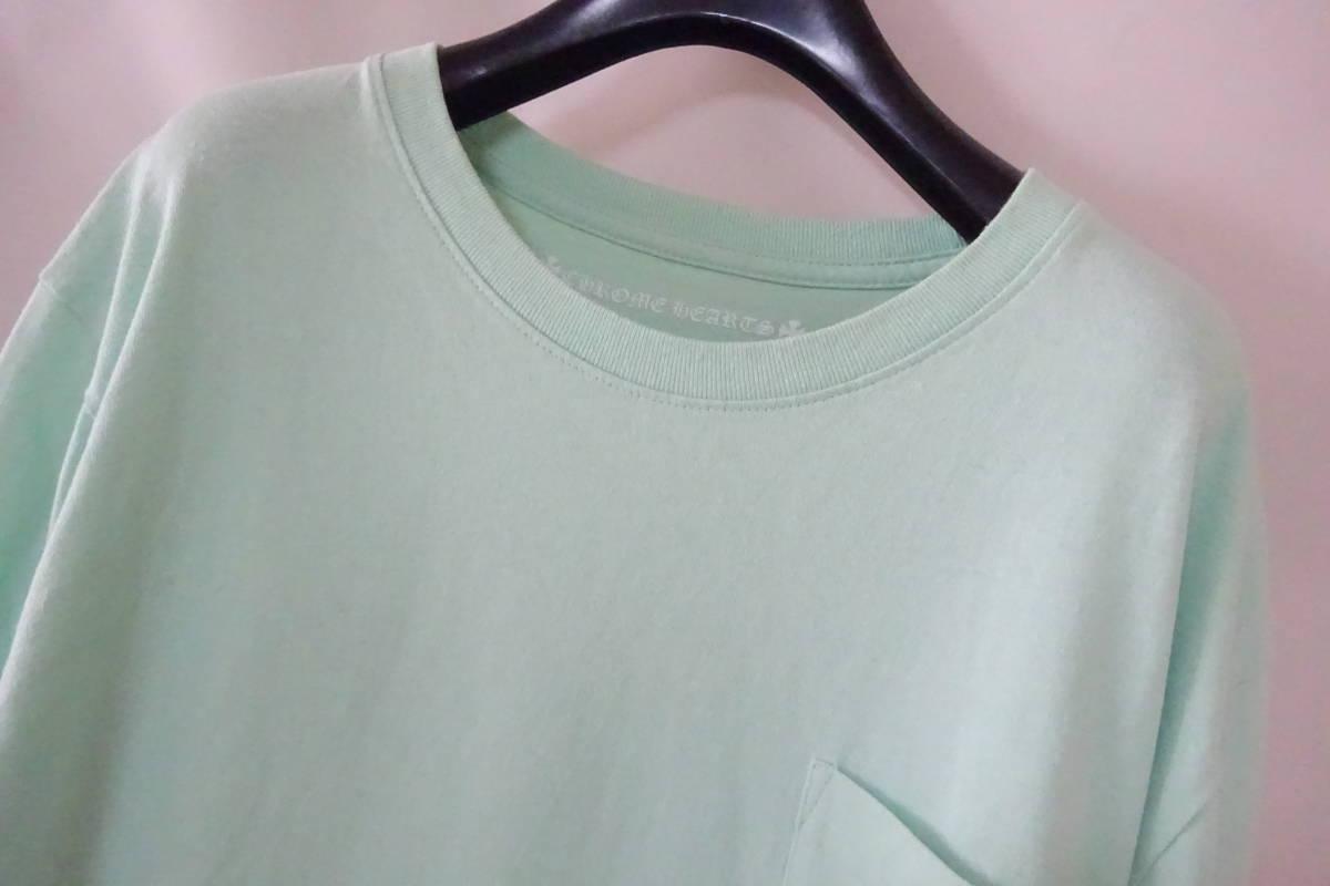 ⑥ クロムハーツ マッティボーイ 長袖 Tシャツ L 175/104B ライトグリーン MATTY BOY レア ロンT レア_画像2