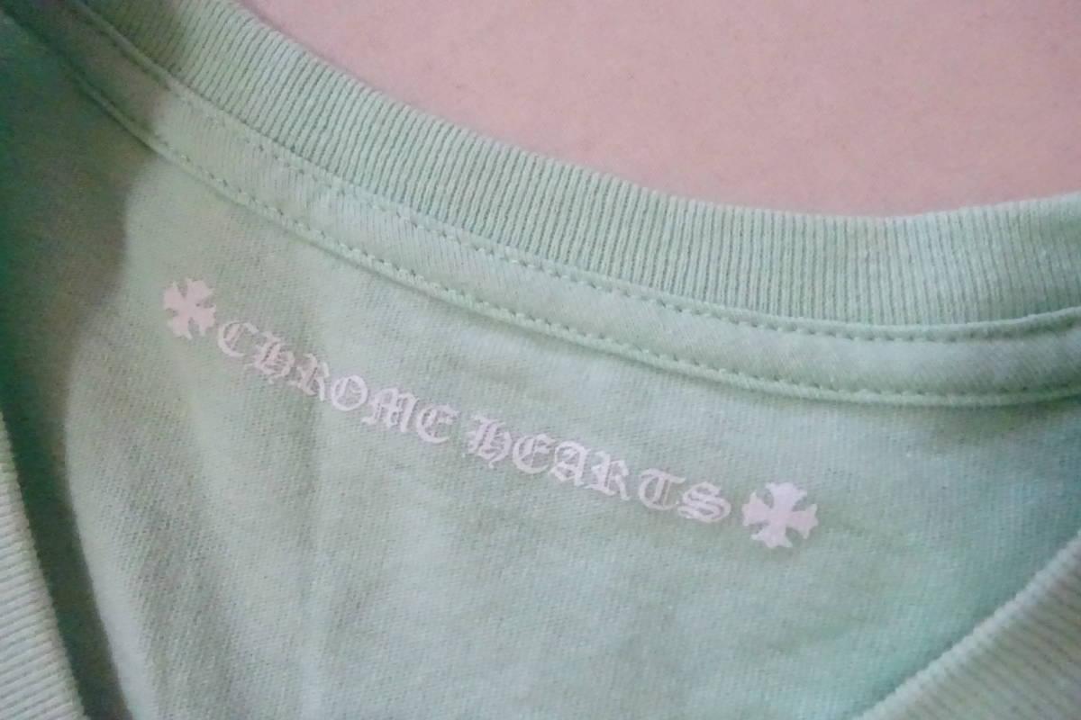 ⑥ クロムハーツ マッティボーイ 長袖 Tシャツ L 175/104B ライトグリーン MATTY BOY レア ロンT レア_画像5